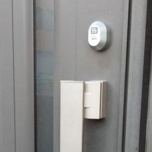 MIWAの鍵に交換した玄関ドア