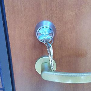 MIWAのU9シリンダーに交換した鍵